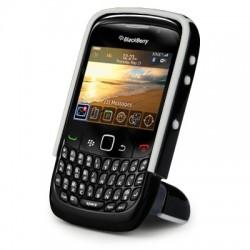 Coque noire avec pied repliable pour Blackberry 9300 Curve 3G