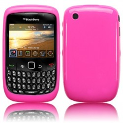 Coque gel rose pour Blackberry 9300 Curve 3G