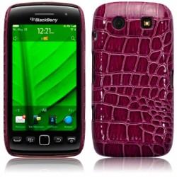 Coque rigide Bordeaux imitation croco pour Blackberry Torch 9860