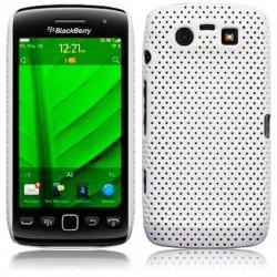 Coque rigide perforée blanche pour Blackberry  Torch 9860