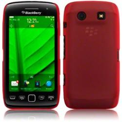 Coque rigide rouge translucide pour Blackberry Torch 9850 et 9860