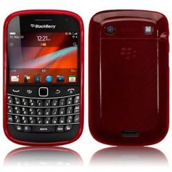 Coque gel rouge pour Blackberry 9900