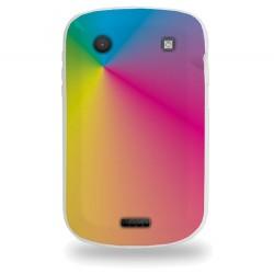 Coque avec couleurs arc en ciel pour Blackberry 9900