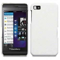 Coque cuir blanc simili pour Blackberry Z10