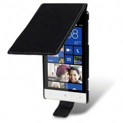 Etui noir à clapet pour HTC 8S