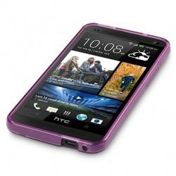 Coque violet translucide pour HTC One M7