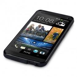 Coque noir piano pour HTC One M7