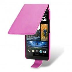 Etui rose à clapet pour HTC One M7