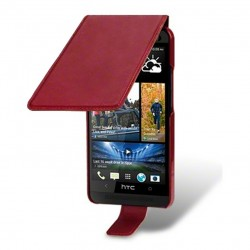 Etui rouge à clapet pour HTC One M7
