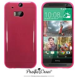 Coque rose translucide pour HTC One M8