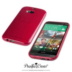 Coque rouge translucide pour HTC One M8