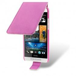 Etui rose à clapet pour HTC One mini