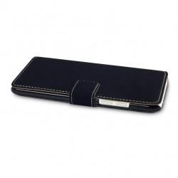 Etui noir simili cuir ouverture folio pour HTC One Mini