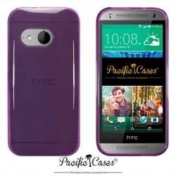 Coque pour HTC One Mini 2 violet transparent