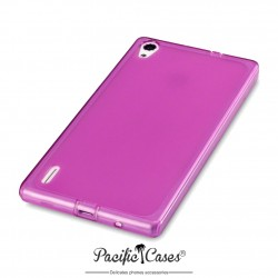 Coque violet translucide pour Huawei Ascend P7