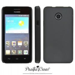 Coque pour Huawei Ascend Y330 touché gomme marque Pacific Cases® - noir