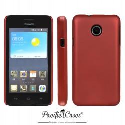 Coque pour Huawei Ascend Y330 touché gomme marque Pacific Cases® - rouge