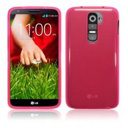 Coque rose translucide pour LG G2