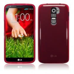 Coque rouge translucide pour LG G2