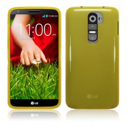 Coque jaune translucide pour LG G2
