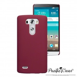 Coque rouge rigide touché gomme pour LG G3