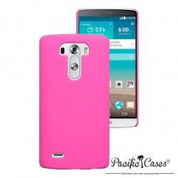 Coque pour LG G3 rose touché gomme rigide