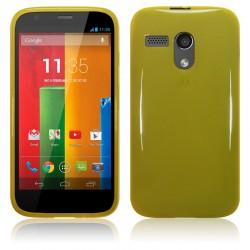 Coque jaune translucide pour Motorola Moto G