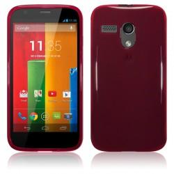 Coque rouge translucide pour Motorola Moto G