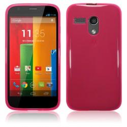 Coque rose translucide pour Motorola Moto G