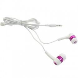 Ecouteurs intra-auriculaires stéréo blanc et fushia