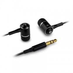 Ecouteurs intra-auriculaires stéréo en métal noir