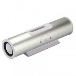 Enceinte stéréo tube pour iPod et iPhone alu