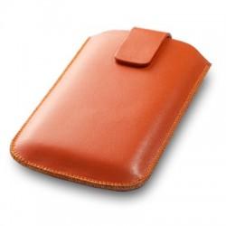 Housse orange taille large pour téléphone
