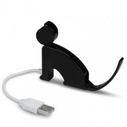 Lecteur de cartes mémoire en forme de chat noir