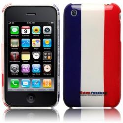 Coque rigide motif drapeau français pour iPhone 3