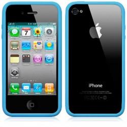 Bumper bleu clair pour iPhone 4