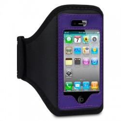 Etui brassard sport pourpre pour iPhone 4