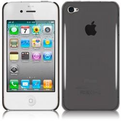 Coque arrière cristal noir fumé pour iPhone 4