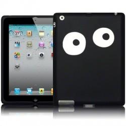 Coque noire avec yeux blancs pour iPad 2