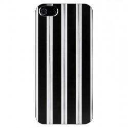 Coque aluminium ciselé argent et noir iPhone 5