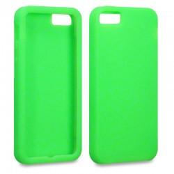 Coque en silicone verte pour iPhone 5