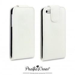 Etui blanc à clapet pour iPhone 5 par Pacific Cases®