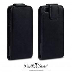 Etui noir à clapet pour iPhone 5 par Pacific Cases®