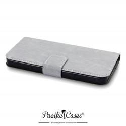 Etui pour iPhone 5 gris ouverture folio