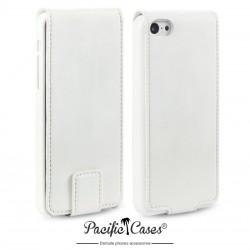 Etui blanc ouverture clapet pour iPhone 5c par Pacific Cases