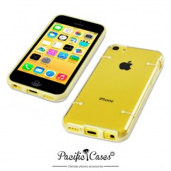 Coque jaune et transparente pour iPhone 5C