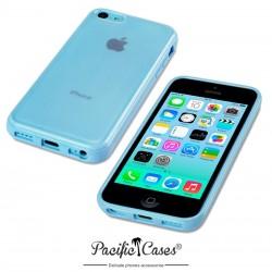 Coque bleue et givre pour iPhone 5C