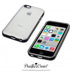 Coque souple noire et givre pour iPhone 5C