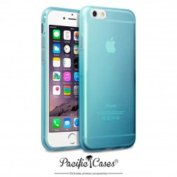 Coque gel pour iPhone 6 bleu translucide