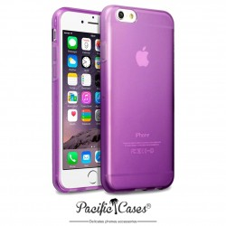 Coque gel pour iPhone 6 violet translucide